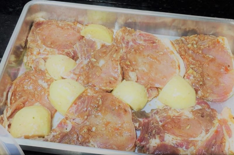 Bisteca com batatas