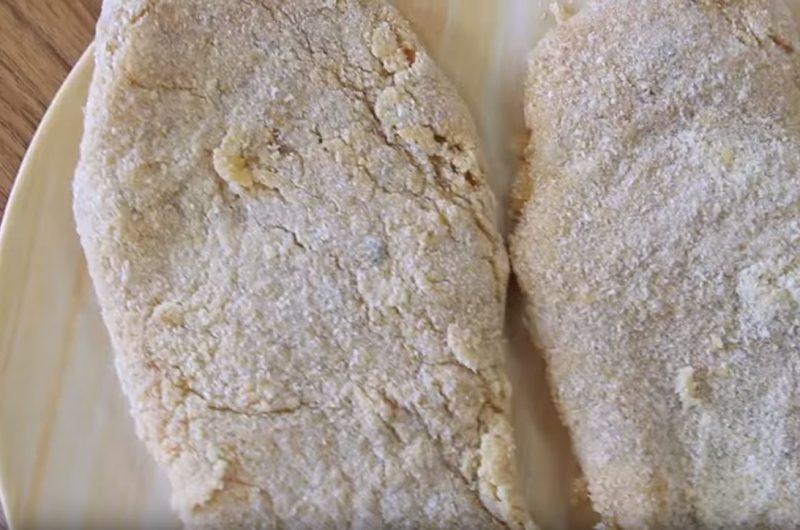 Filés de frango empanados