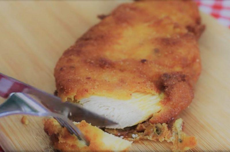 Receita de frango empanado
