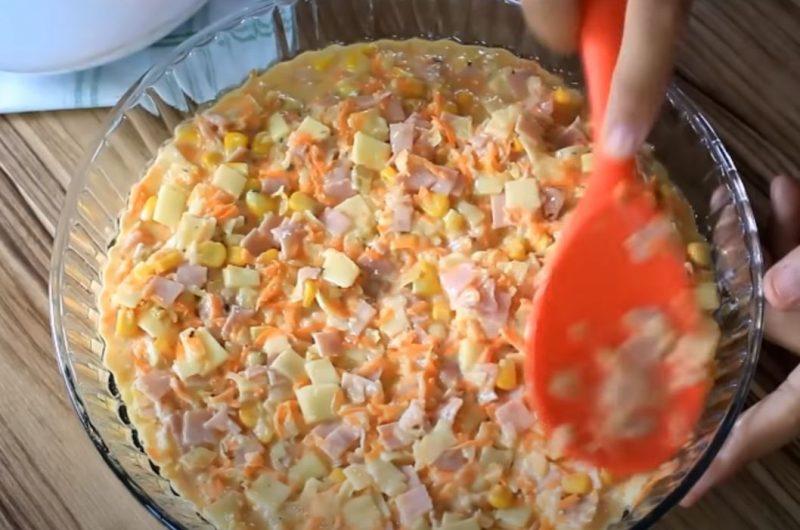 mistura de omelete