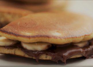 Panqueca de Nutella com banana