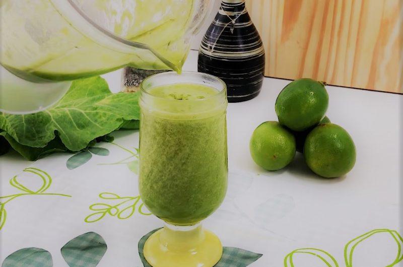 Receita de Suco Detox de Couve com Limão