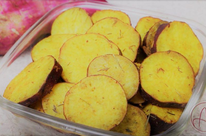 Receita de batata doce simples assada no forno