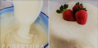Cobertura cremosa para bolo