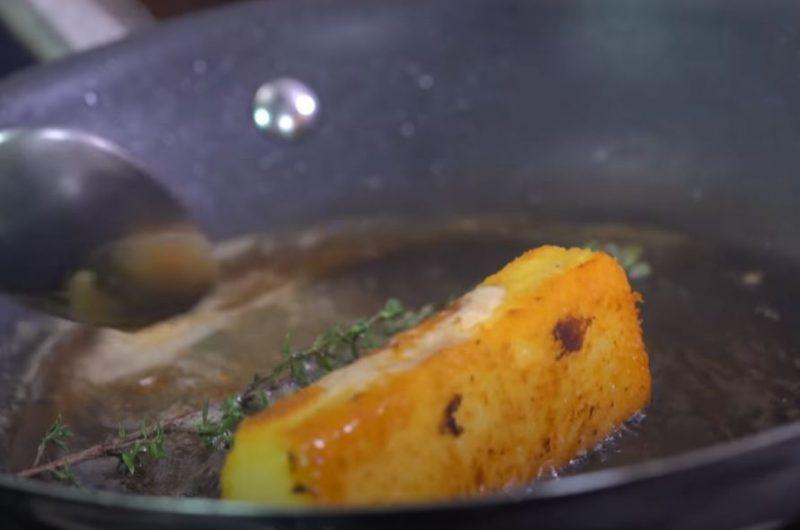 Fritando polenta