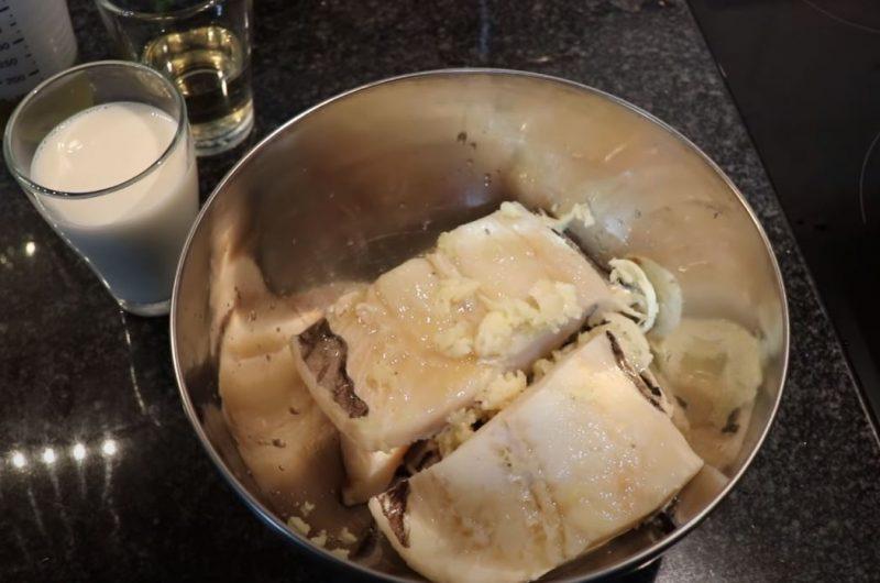 Preparando bacalhau