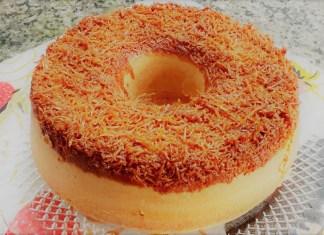 bolo de coco invertido