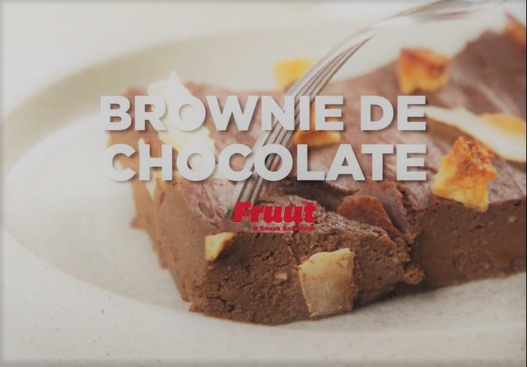 brownie de chocolate saudável