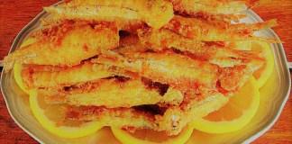 manjubinhas fritas