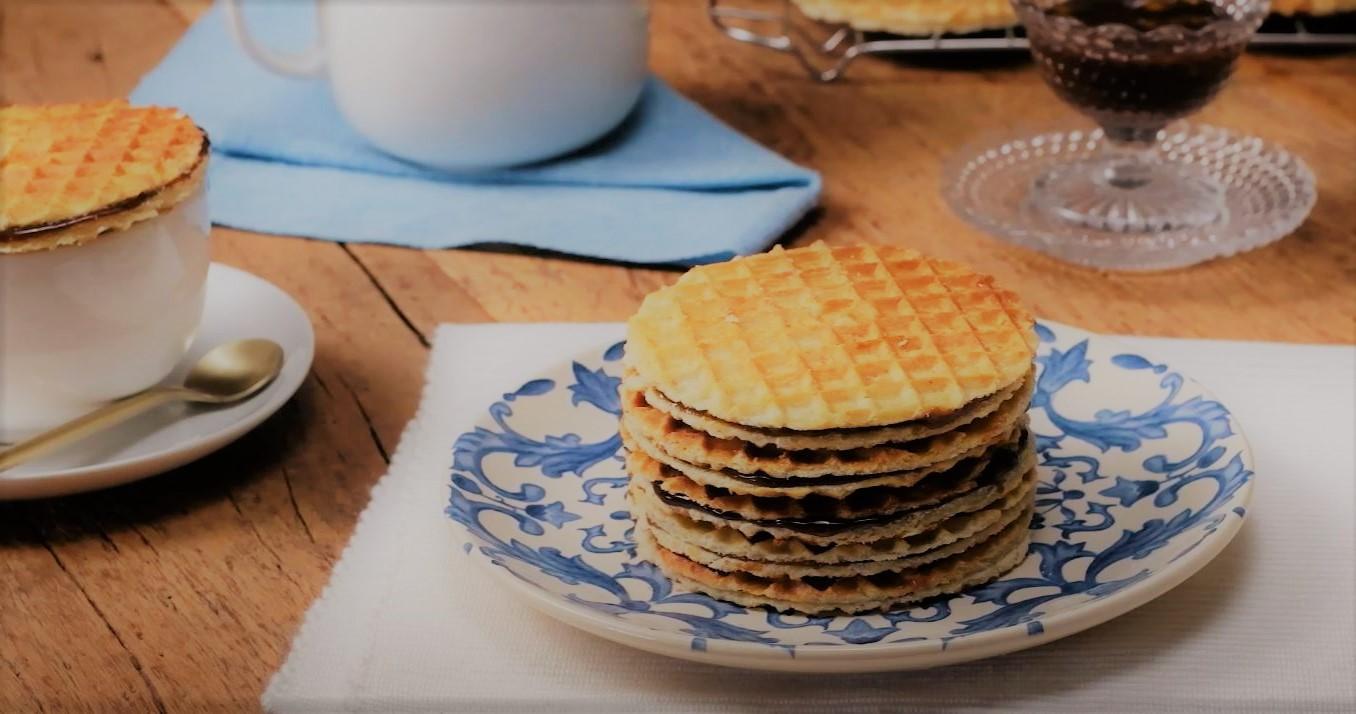Stroopwafel Waffles Holandês